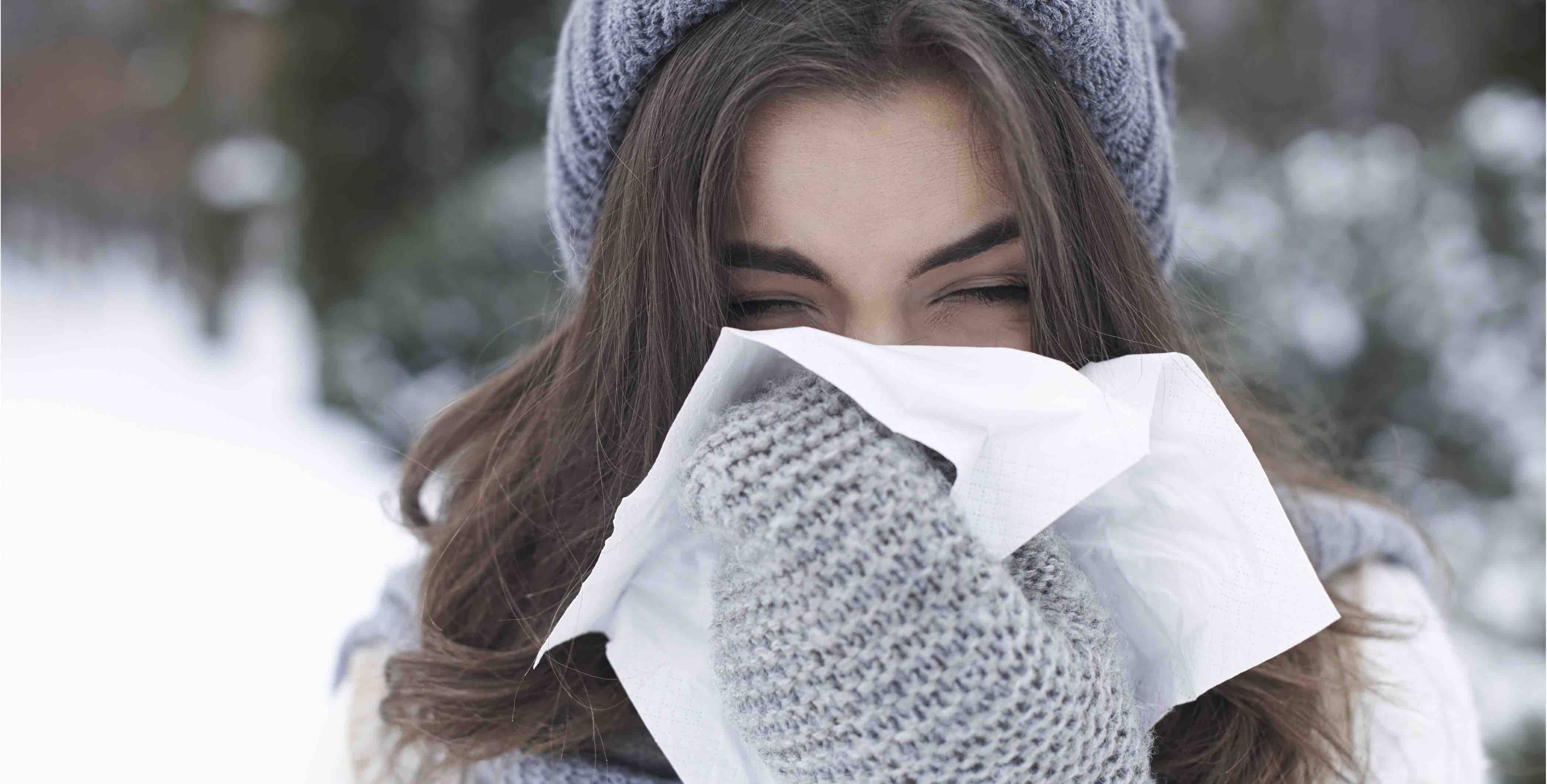 Cold and flu woman